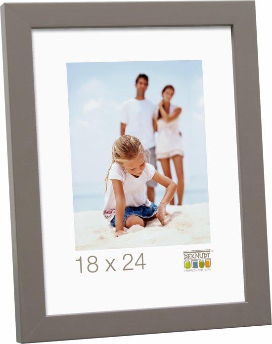 Deknudt Frames moderne fotolijst, taupe, hout fotomaat 13x18 cm