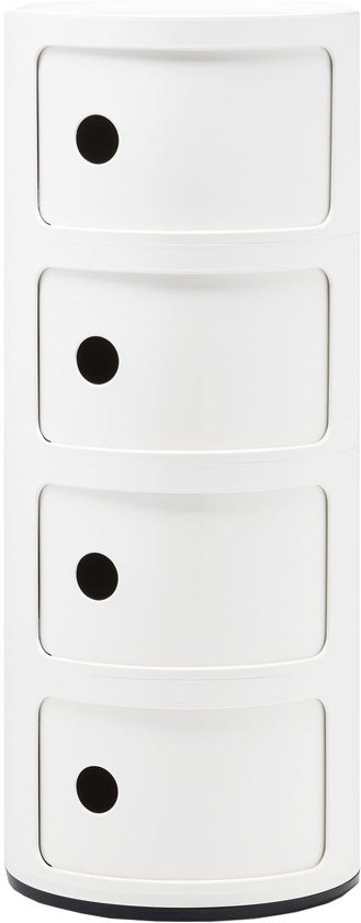 Kartell Componibili Kast Rond Extra Large (4 Comp.) Wit