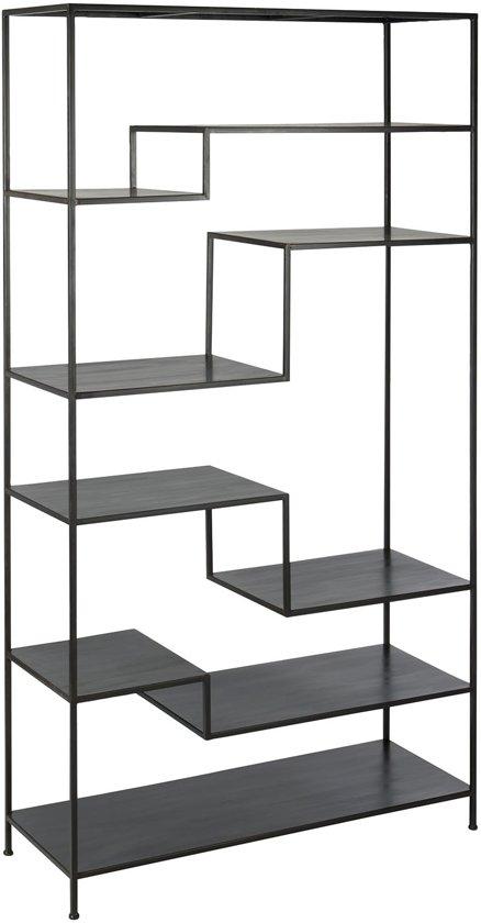 Voorkeur bol.com | Rek Cubic 6 lagen zwart metaal 185x101x39 #KK17