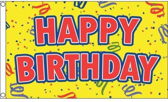 Bol Com Happy Birthday Verjaardag Feest Vlag 150 X 90 Cm