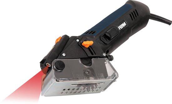FERM CSM1038 Precisie cirkelzaag 400W - Laser - Incl. 4 zaagbladen en stofafzuiging - Geschikt voor aluminium, laminaat, kunststof en keramische tegels