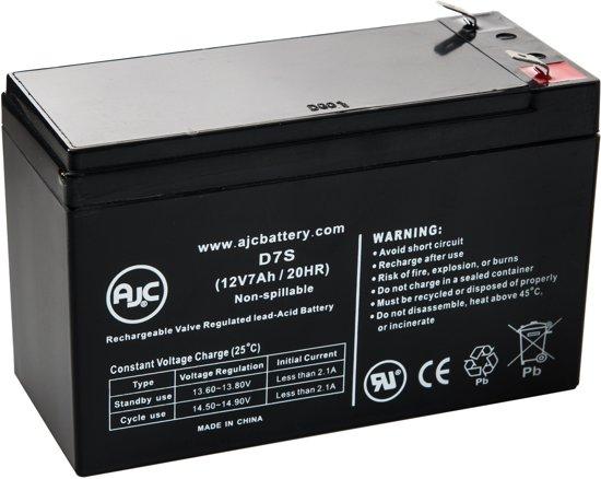 AJC® battery compatibel met Ritar 12V 7.2Ah 12V 7Ah Lood zuur accu