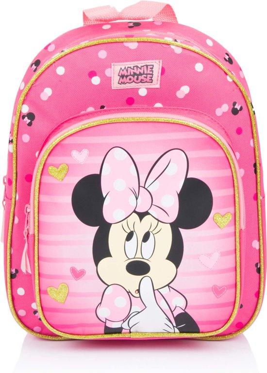 14e6285b64a Disney Minnie Mouse Looking Fabulous Kinderrugzak 31 cm Unisex - Roze - Met  groot voorvak