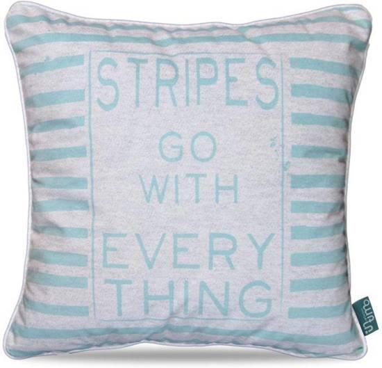 Intimo Stripes - Sierkussen - 45x45 - Turquoise