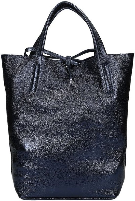 40202b33435 Duifhuizen Leather Collection shopper S metallic blue