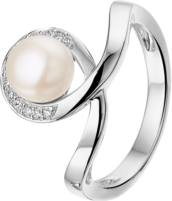 The Jewelry Collection Ring Parel En Zirkonia - Zilver