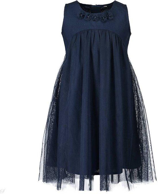 Blue Seven Meisjes jurk - donkerblauw - Maat 128