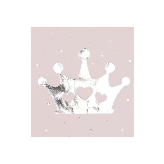 Papieren servetten met kroon opdruk (16 stuks) Valentinaa