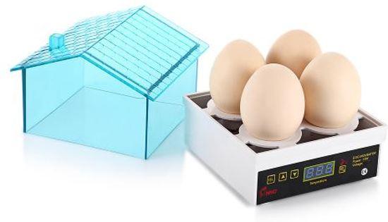 Broedmachine Mini  - 4 Eieren - Model- AC4 ® + Gratis schouwlampje