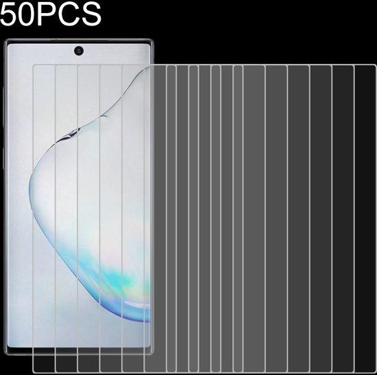 Let op type!! 50 PCS voor Galaxy Note 10 + 9H 2.5 D scherm gehard glas film