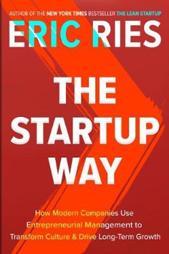 Boek cover The Startup Way van Eric Ries (Hardcover)
