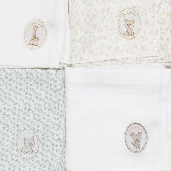 Sophie de Giraf - Hydrofiele doeken - 4x - in geschenkdoos