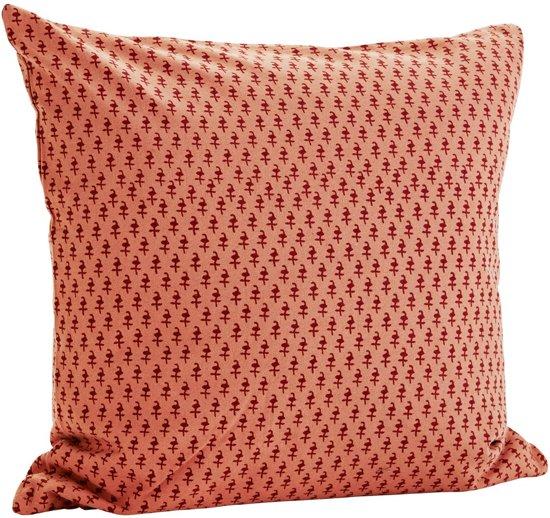 Kussenhoes 50 X 60.Bol Com Madam Stoltz Kussenhoes Patroon Roze Rood 50 X 50