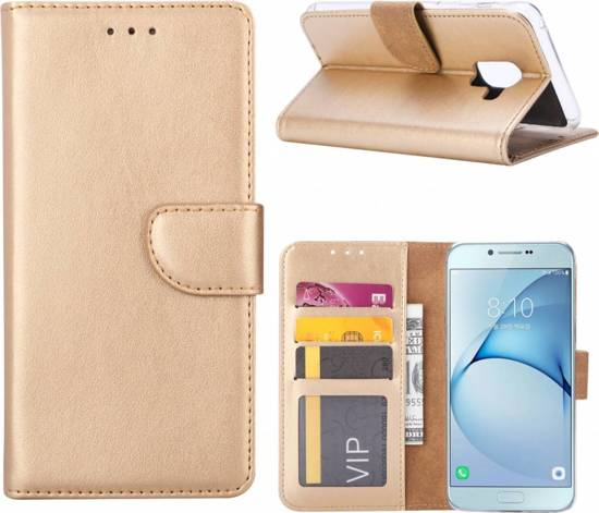 Samsung Galaxy A6 Plus 2018 - Bookcase Goud - portemonee hoesje