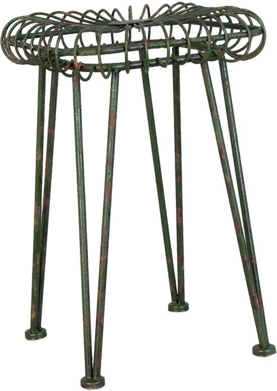Clayre & Eef Kruk 31x31x47 cm ijzer metaal groen