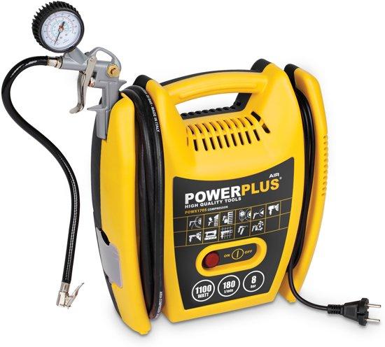 Powerplus POWX1705 Compressor - Max. 8 bar - 1100 Watt
