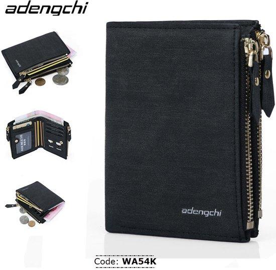 Adengchi Portemonnee Zwart - RFID Wallet