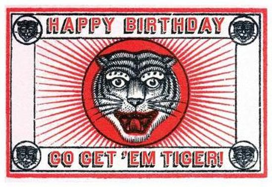 Afbeelding van het spel Tiger Matchbox Birthday Greeting Cards