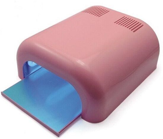 36w uv lamp gel nagels droger roze pink incl lampen. Black Bedroom Furniture Sets. Home Design Ideas