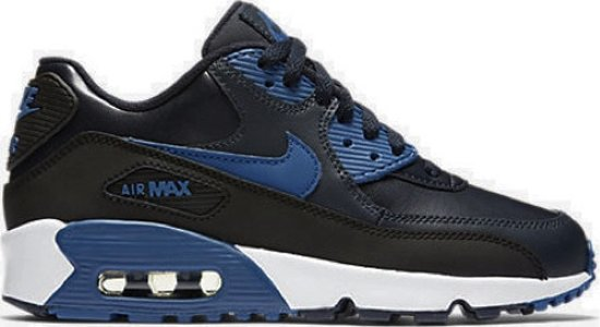 cheap for discount 02731 6267d ... Nike Air Max 90 (GS) Kinder Sneakers Leer Blauw Zwart 833412-402 ...