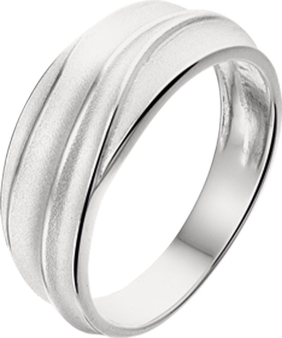 The Jewelry Collection Ring Poli/mat - Zilver Gerhodineerd