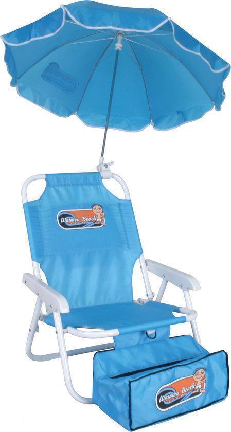 Strandstoel En Parasol.Strand Stoel Met Parasol Kinder Aqua