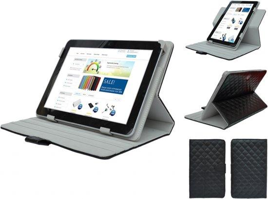 Diamond Class Case 360 graden draaibaar voor Samsung Galaxy Tab 4 7.0, Designer Hoesje, rood , merk i12Cover