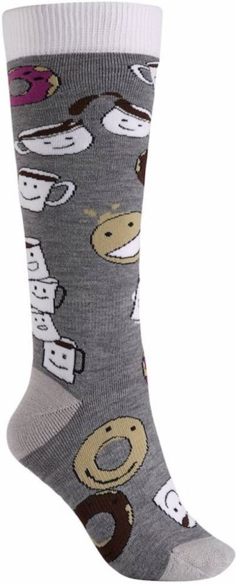 Burton Party Sock Dames Skisokken - Coffee And Donuts - M\L
