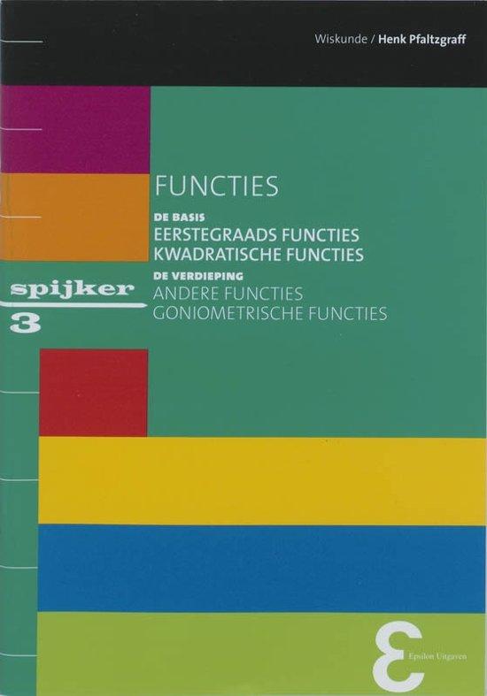 Boek cover Spijkerreeks 3 - Functies van Henk Pfaltzgraff (Paperback)