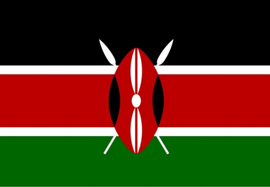 Vlag Kenia / Kenya - keniaanse vlag 150x90cm