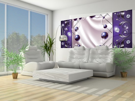 Paarse Accessoires Slaapkamer : Bol fotobehang modern slaapkamer zilver paars cm