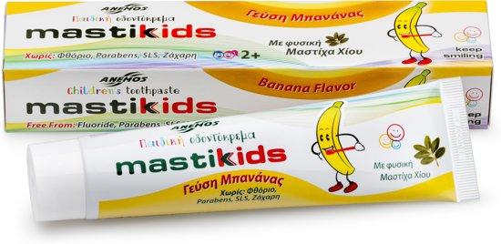 Kindertandpasta mastiek bananensmaak 2-pak