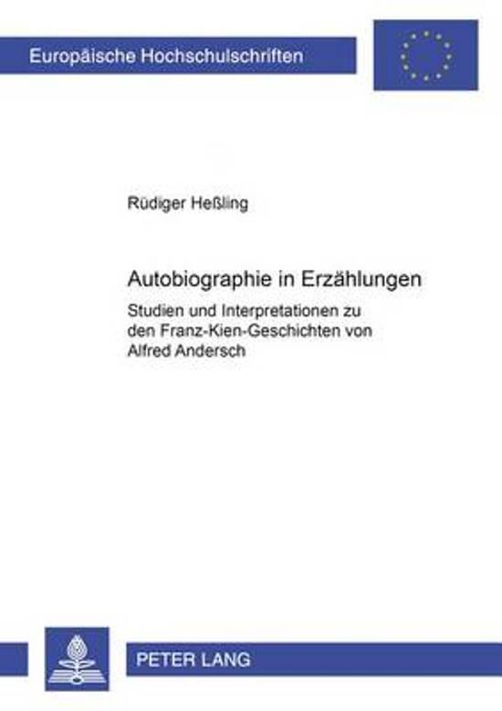 Afbeelding van autobiographie in Erzaehlungen
