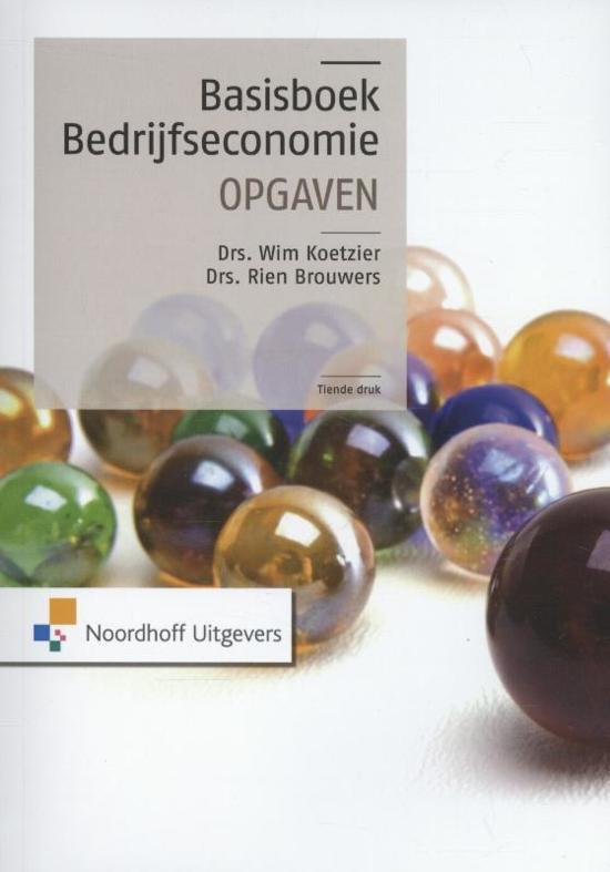 Basisboek bedrijfseconomie - Opgaven
