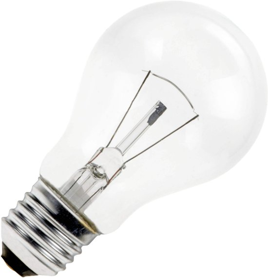 Gloeilamp standaardlamp 25w E27 230V Helder (10 stuks)