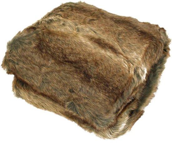Imitatiebont Plaid Wolf.Bol Com Hd Collection Warme Deken Plaid Bont Throw Wolf