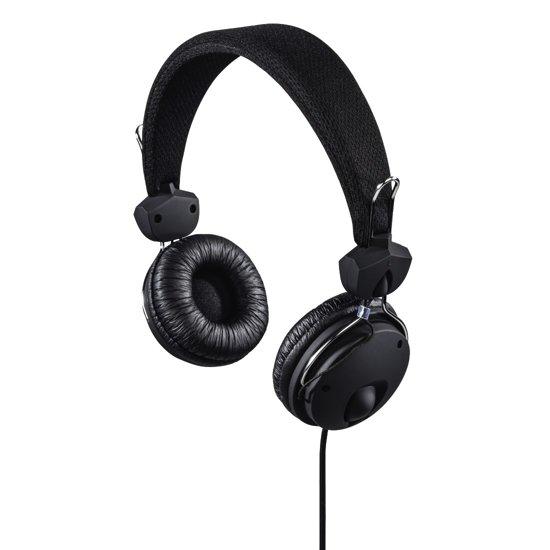 """Hama Koptelefoon """"Fun4Phone"""", on-ear, microfoon, snoerdoorvoer één zijde, zwart"""