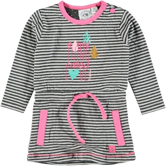 Bampidano Meisjes Jurk - ebony stripe - Maat 74