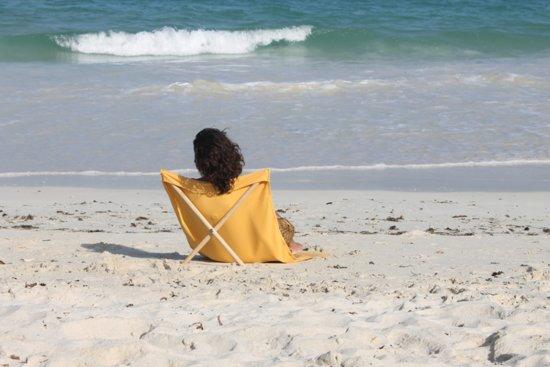 Pro Beach Strandstoel.Strandstoel Opvouwbaar Canvas Grenen Beach Chair Beach Lounger Geel