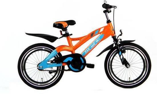 KinderCar Alpi Jongens 16 inch Blauw-Oranje