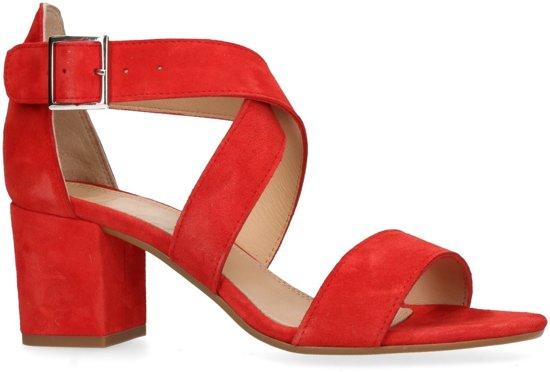 Manfield - Dames - Rode sandalen met hak