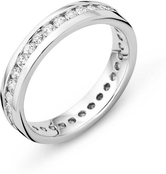 Majestine 925 Zilveren Eternity Ring met Zirkonia maat 56