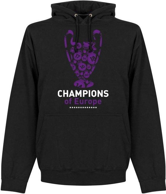 Real Madrid Champions League 2018 Winners Hooded Sweater - Zwart - L