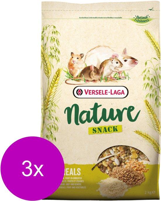 Versele-Laga Nature Snack Cereals Granen - Knaagdiersnack - 3 x 2 kg