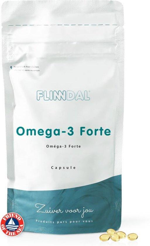 Omega-3 Forte (Hoog geconcentreerd visoliesupplement) - 90 capsules - Flinndal