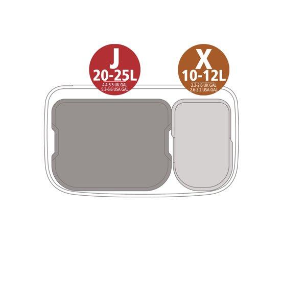 Brabantia Bo Pedal Bin 11 + 23 Liter Platinum