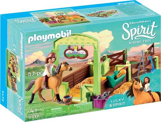 PLAYMOBIL Lucky & Spirit met paardenbox - 9478