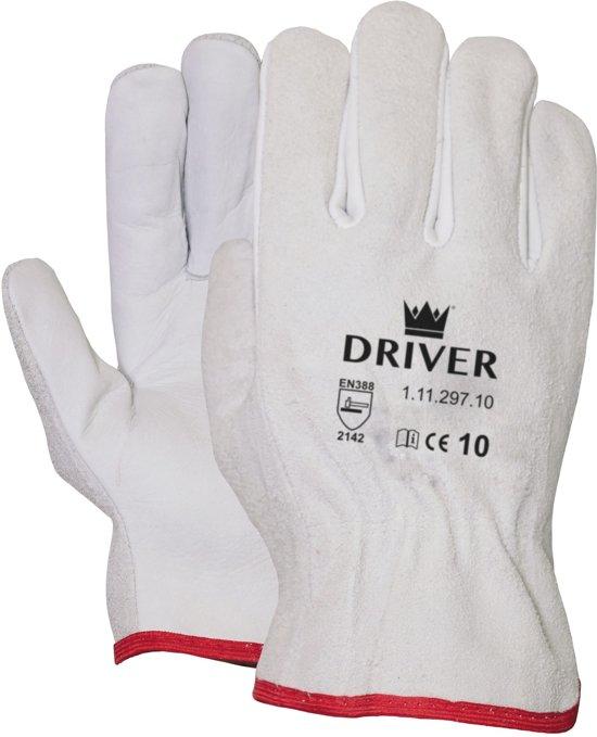 Werkhandschoen M-safe Officier Driver naturel maat 9 (12 stuks)
