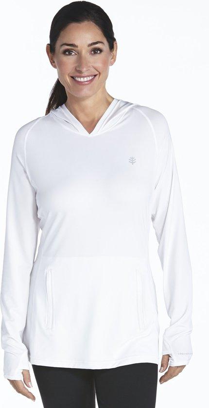 Coolibar UV hoodie Dames - Wit - Maat 40