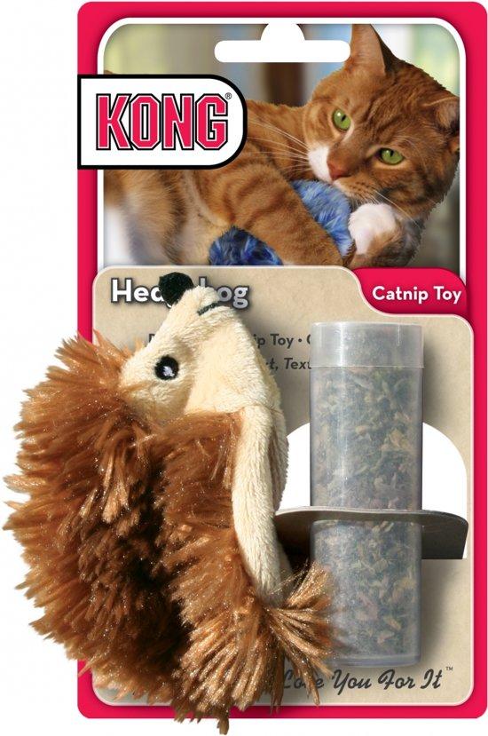 Kong Kat Catnip Egel - Speelmuis - 25 mm x 64 mm x 34 mm - Bruin